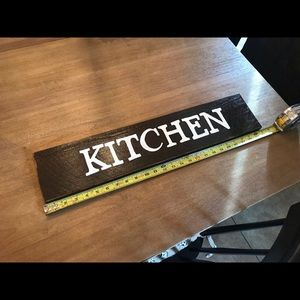 Handmade rustic kitchen sign